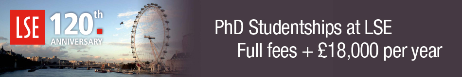 London School of Economics and Political Science Featured PhD Programmes