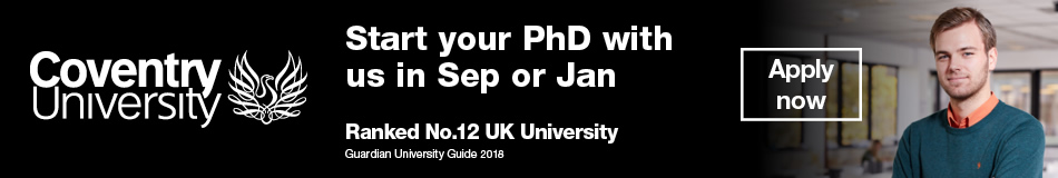 Coventry University Featured PhD Programmes