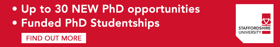 Staffordshire University Featured PhD Programmes