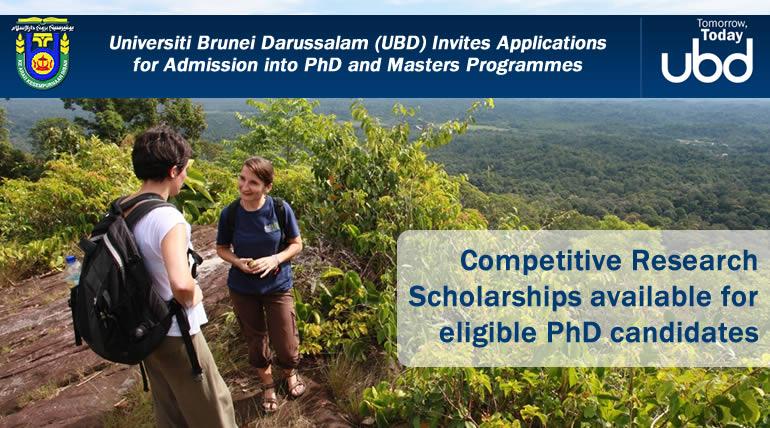 Universiti Brunei Darussalam (UBD), Competitive Research Scholarships