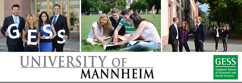 The Graduate School of Economic and Social Sciences at the University of Mannheim offers excellent opportunities for highly motivated students who wants to pursue a doctoral degree at a leading European university!