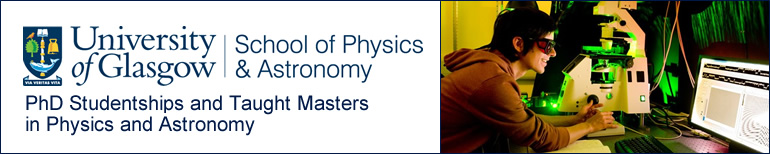 PhD Studentship and Taught Masters in Physics and Astronomy