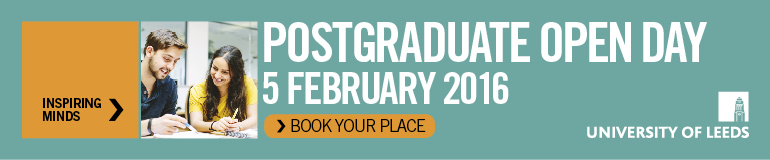 Come along to our Postgraduate Open Day on Friday 5 February 2016 to find out more.