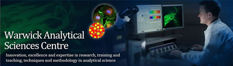 Warwick Analytical Sciences Centre  Now inviting applications for Sept 2015 intake