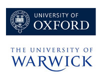 10 funded PhD studentships available in Statistical Science, 5 each at Oxford and Warwick