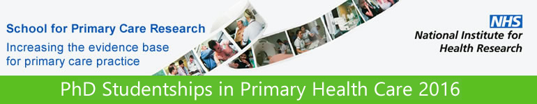 PhD Studentships in Primary Health Care 2016