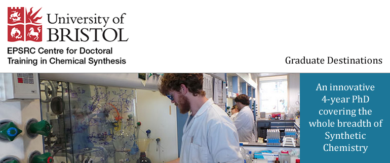 The EPSRC CDT in Chemical Synthesis is a well-established research centre based in the School of Chemistry, University of Bristol.