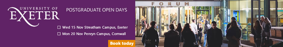 University of Exeter Featured PhD Programmes