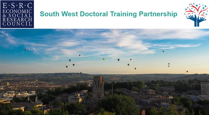 41 fully-funded studentships in the ESRC accredited South West Doctoral Training Centre
