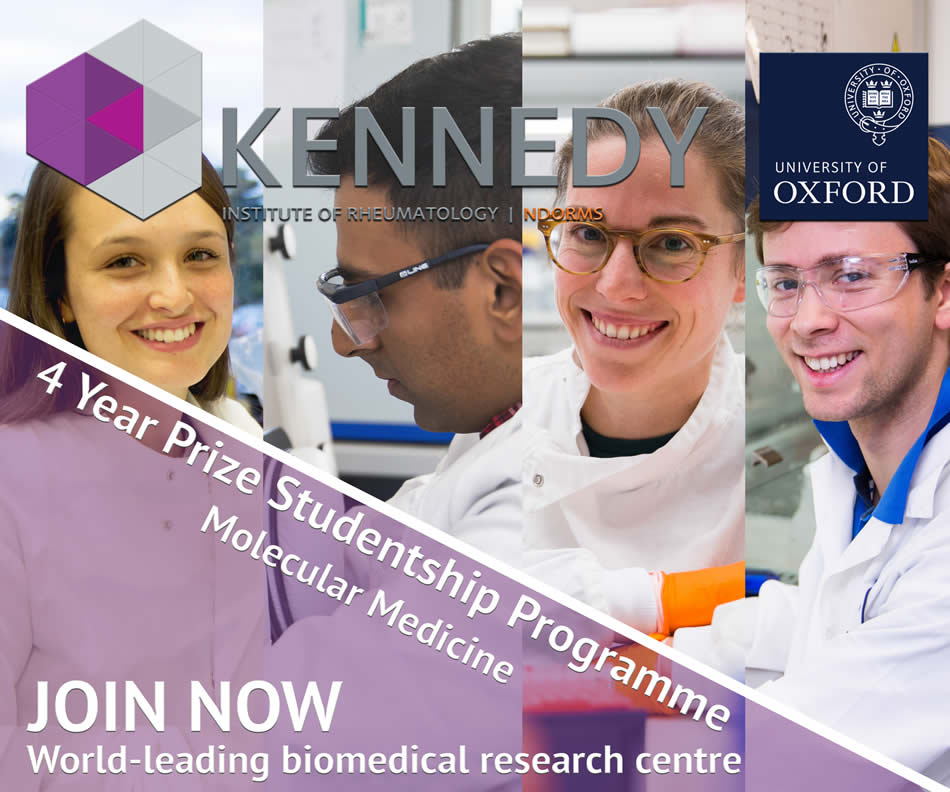 4 Year PhD Prize Studentships at the Kennedy Institute