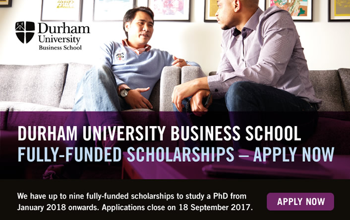 Durham University Business School - Fully-funded PhD Scholarships