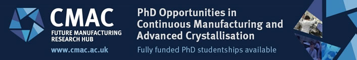 PhD in Continuous Manufacturing and Advanced Crystallisation
